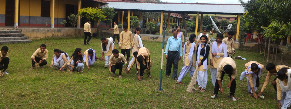 Moment of Social Service by the Students
