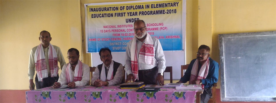 Moment of Inaugural Session of D.El.Ed Programme