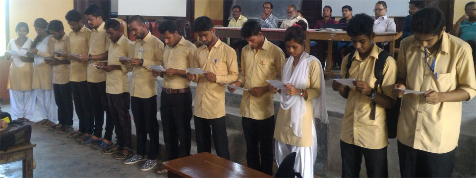 Oath Taking Ceremon of Newly Elected Students Union Body 2017-18